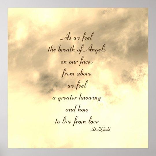 Angel blessing poem art poster
