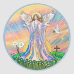 Angel Blessing Round Stickers
