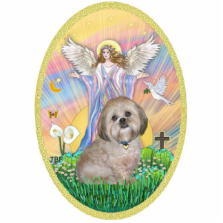 Angel Blessings - Lhasa Apso 11 Standing Photo Sculpture