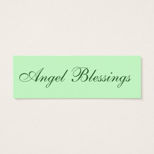 Angel Blessings LOVE Note Mini Business Card