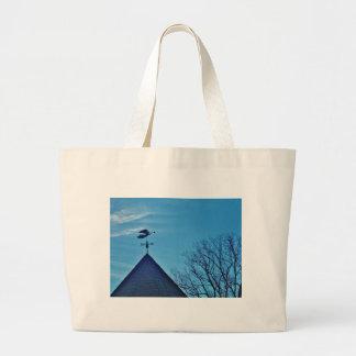 Angel BLOWING HORN WEATHER VANE Tote Bags