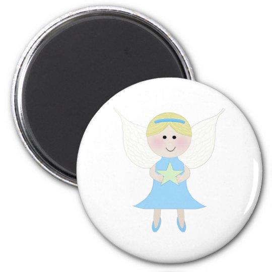 Angel Blue 6 Cm Round Magnet
