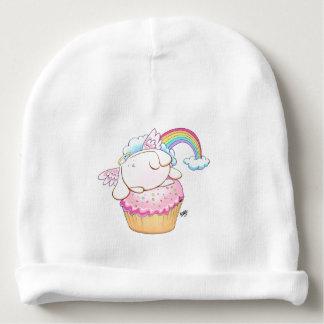 Angel Bunny Riding a Cupcake Baby Beanie