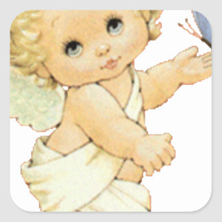 ANGEL BUTTERFLY SQUARE STICKER