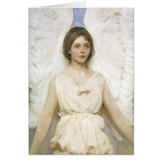 Angel by Abbott Thayer, Vintage Easter Blessings Greeting Card