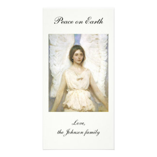 Angel by Abbott Thayer, Vintage Victorian Fine Art Personalized Photo Card