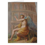 Angel by Ancient Ruins Greeting Cards