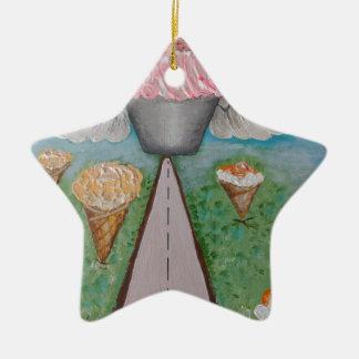 angel cake.JPG Ceramic Star Decoration