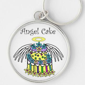 angel cake keychain
