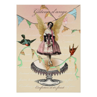 angel cake poster