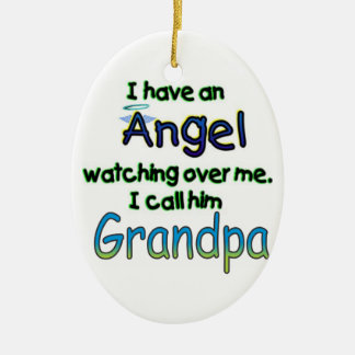 ANGEL CALLED GRANDPA CHRISTMAS ORNAMENT