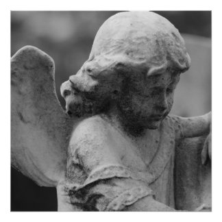 Angel Canvas Poster black and white