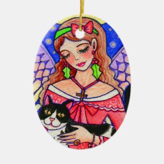 Angel Cat Christmas Ornament by Ann Howard