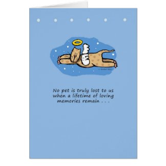 Angel Cat Memorial Sympathy Greeting Card