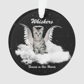 Angel Cat Pet Memorial Remembrance Photo Ornament