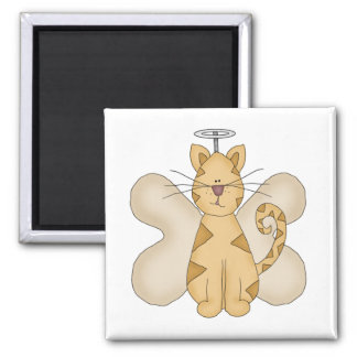 Angel Cat Tshirts and Gifts Square Magnet