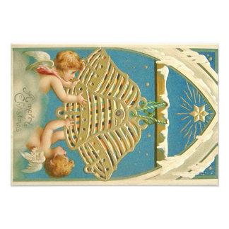 Angel Cherub Bell Heaven Star of Bethlehem Photographic Print
