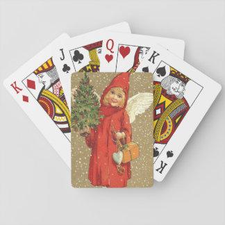 Angel Cherub Christmas Tree Snow Playing Cards