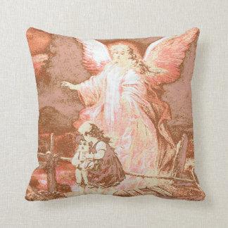 Angel, Children, Bridge, Poem Throw Pillow