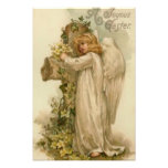 Angel Christian Cross Lily Leaf Photographic Print