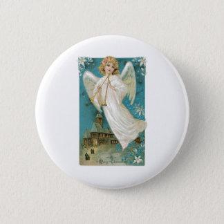 Angel Christmas 6 Cm Round Badge
