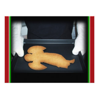 Angel Christmas Gingerbread Cookies Announcements