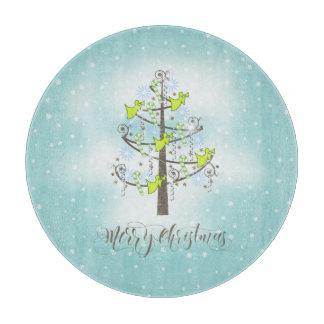Angel Christmas Tree Blue ID197 Cutting Board