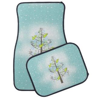 Angel Christmas Tree Blue ID197 Floor Mat
