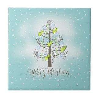 Angel Christmas Tree Blue ID197 Tile