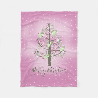 Angel Christmas Tree Orchid Pink ID197 Fleece Blanket