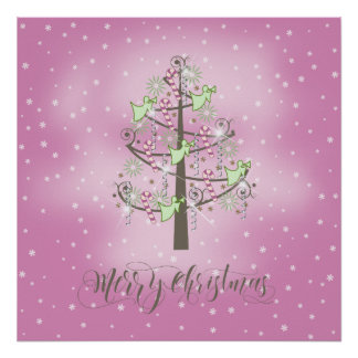 Angel Christmas Tree Orchid Pink ID197 Poster