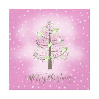 Angel Christmas Tree Orchid Pink ID197 Stretched Canvas Prints