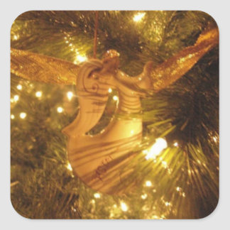 ANGEL CHRISTMAS TREE STICKER AND ENVELOPE SEAL