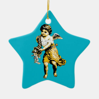 Angel Cornucopia Sketch Christmas Ornament