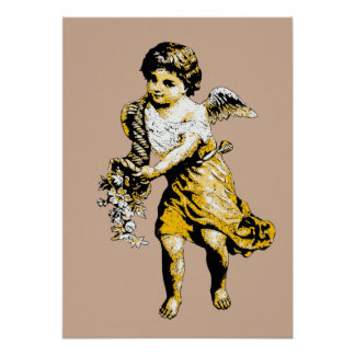 Angel Cornucopia Sketch Poster Art