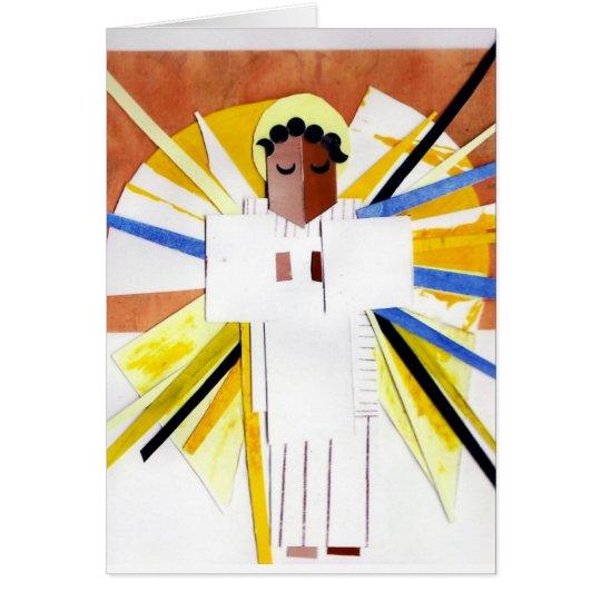 Angel Cubist Christmas Card
