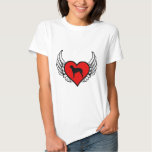 Angel Curly Coated Retriever dog winged Heart T-shirts
