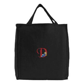 Angel D Embroidered Bag