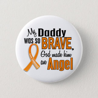 Angel Daddy Leukemia 6 Cm Round Badge