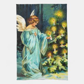 Angel Decorating Christmas Tree Tea Towel
