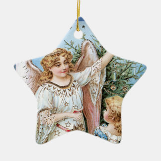 Angel Decorating the Tree Christmas Ornament