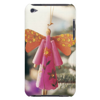 Angel Decoration Hanging from a Christmas Tree Barely There iPod Cases