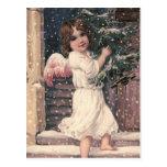 """Angel Delivery"" Vintage Christmas Postcard"