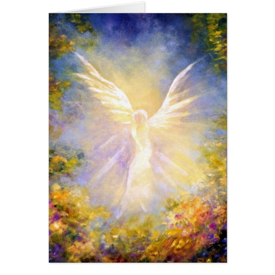Angel Descending Fine Art Greeting Card