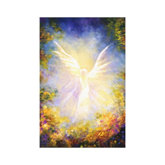 """Angel Descending"" Guardian angel descending. Canvas Print"