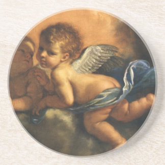 Angel detail, Patron Saints of Modena by Guercino Coaster