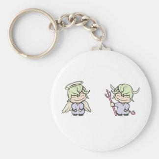 angel-devil!  Customizable! Key Ring