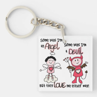 Angel Devil Key Ring