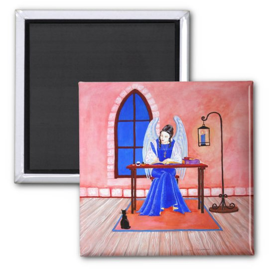 Angel Diary Square Magnet