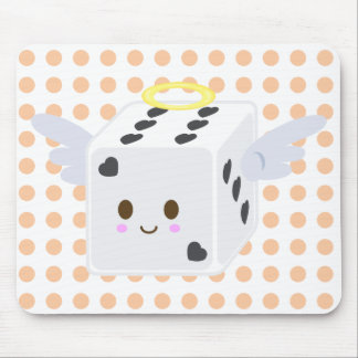Angel Dice with Hearts Mouse Pad
